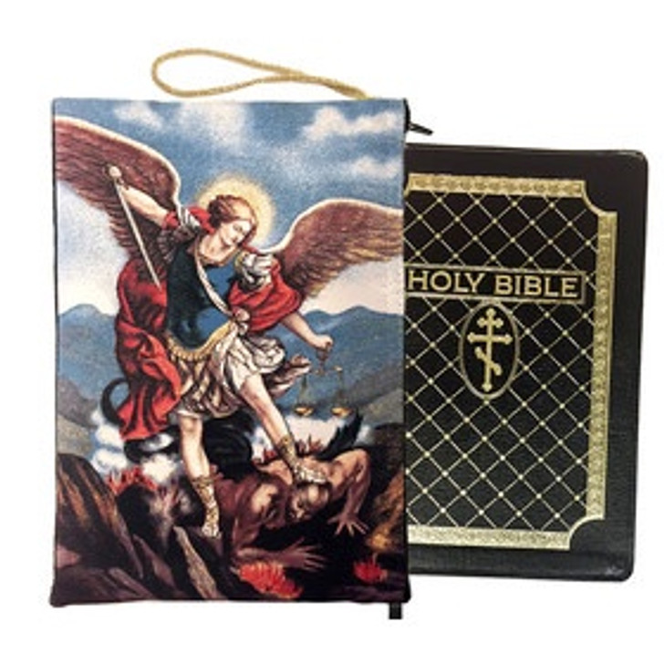 TBC-5 Saint Michael Bible Book Ipad Tapestry Pouch
