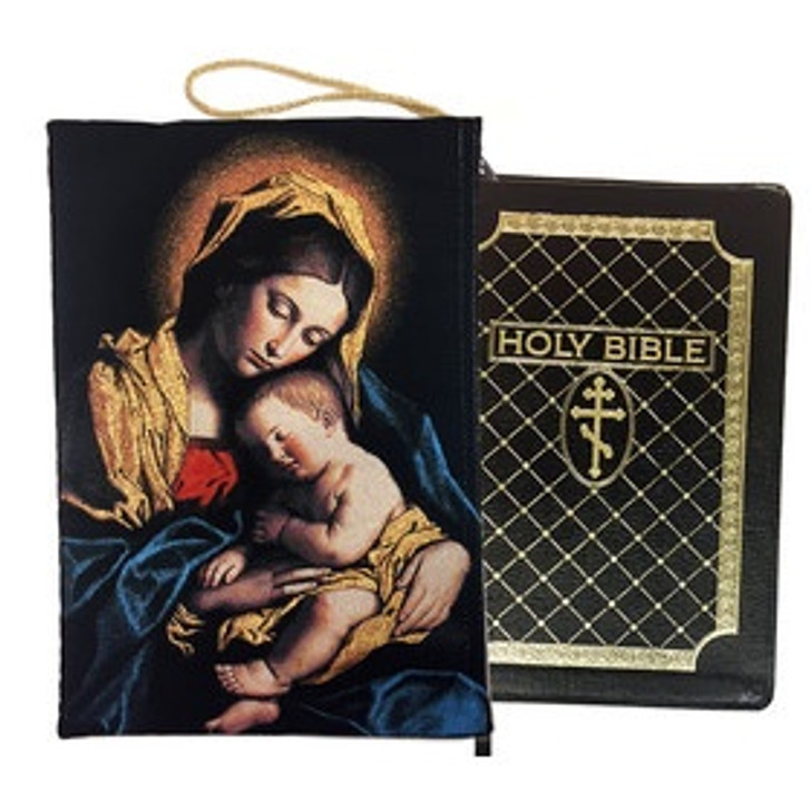 TBC-4 Madonna and Child Bible Book Ipad Tapestry Pouch