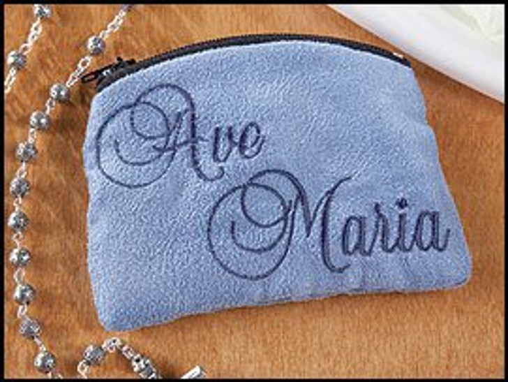 Ave Maria Cloth Rosary Cases