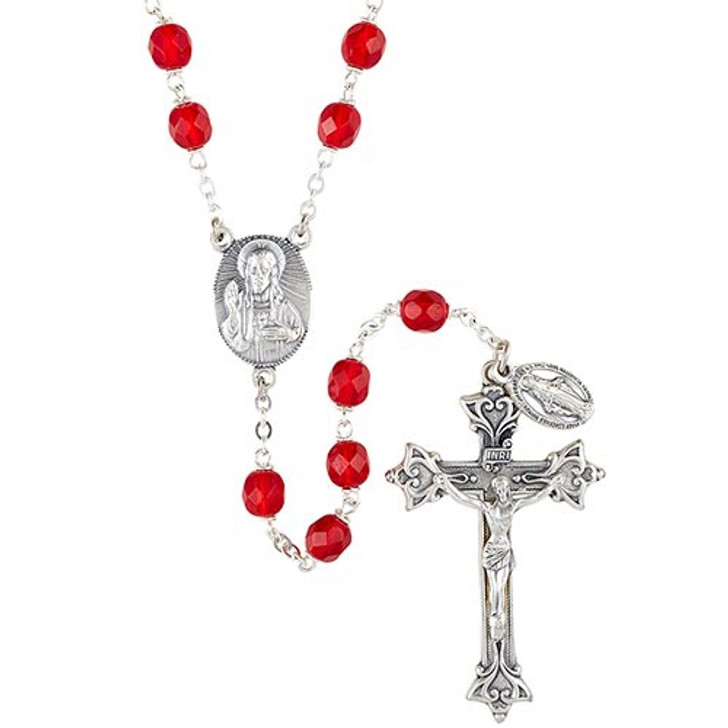 Vienna Collection Ruby Lock-Link Rosary