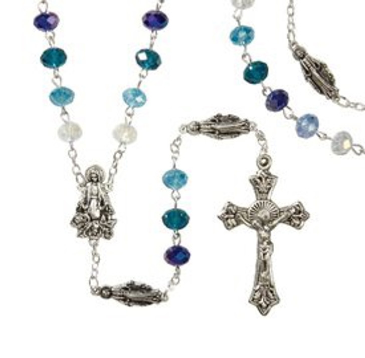 Blue Marian Rosary WC720