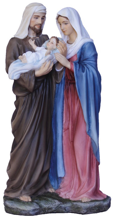 Holy Family, 1 piece, Full Hand-Painted Color SR-77194-C