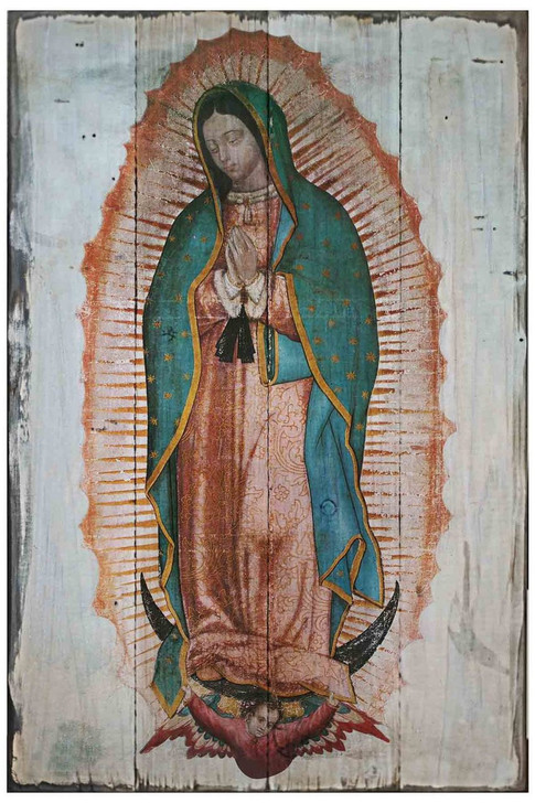 Our Lady of Guadalupe (Full Image) Rustic Wood Plaque RWP-306A