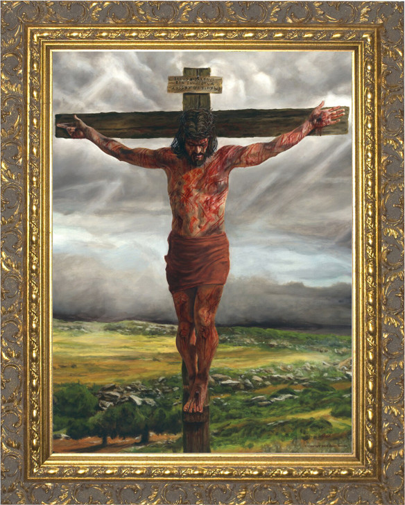 Crucifixion By Jason Jenicke Gold Framed Art NW_5038D31