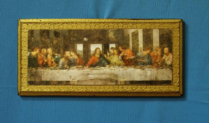 Last Supper Florentine Plaque, 11x5""