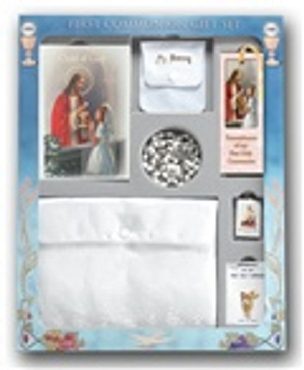 CHILD OF GOD GIRL'S DELUXE 7 PIECE FIRST COMMUNION GIFT SET 5374
