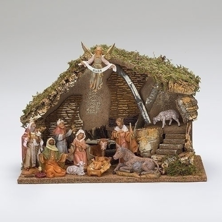 "5"" SCALE 11 FIGURE NATIVITY W/ITALIAN STABLE 54490"