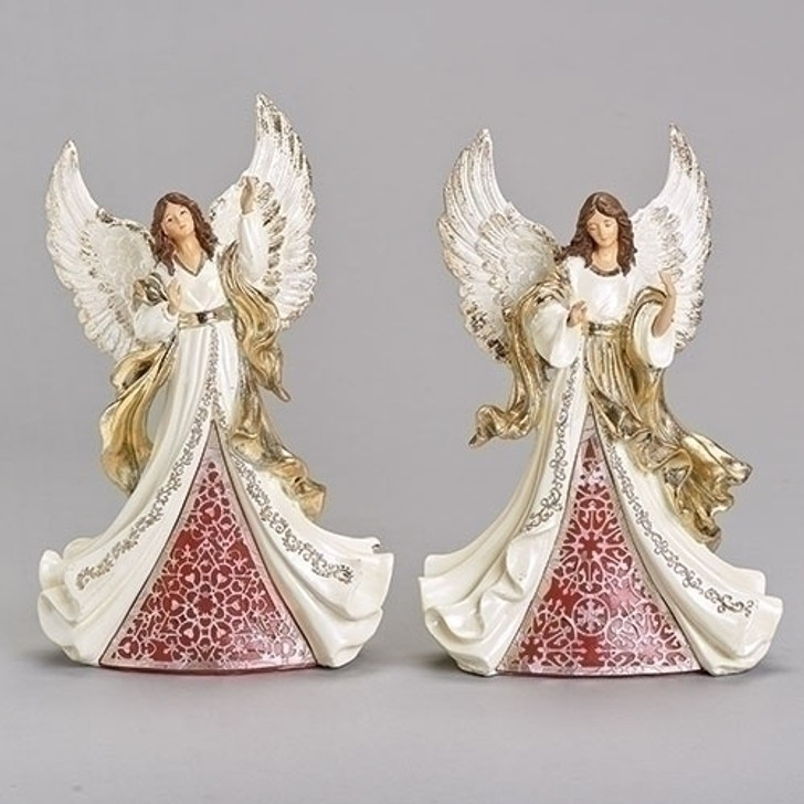 "9.75""H ANGEL IVORY/GOLD 2 ASST 132875"