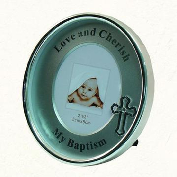 Silver-plated My Baptism Oval Frame