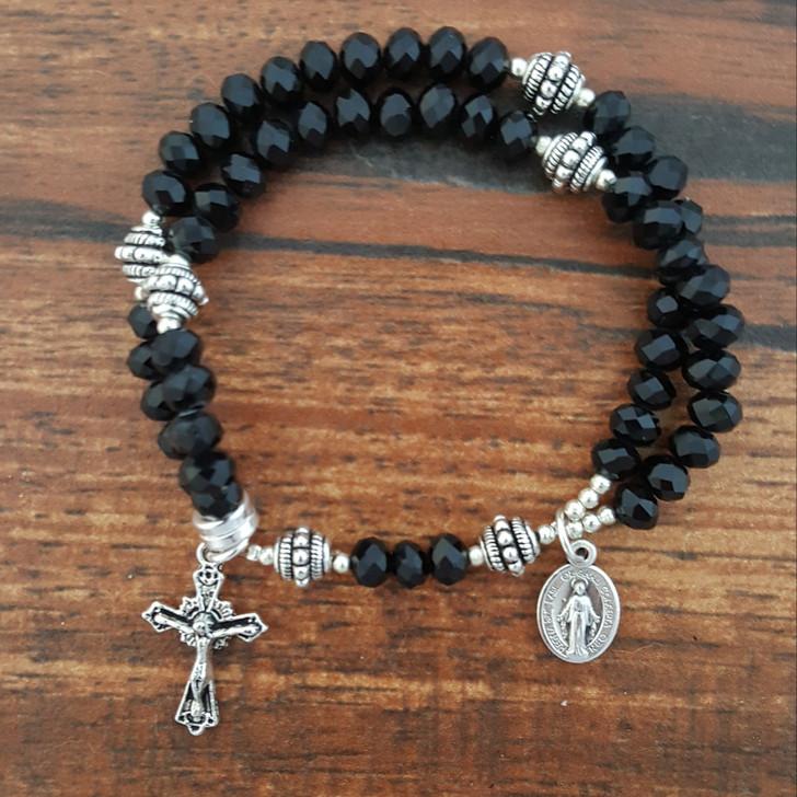Black Crystal Wrist Rosary™