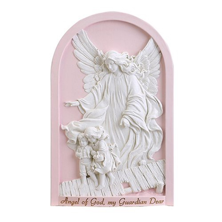 Guardian Angel Plaque Pink HS130