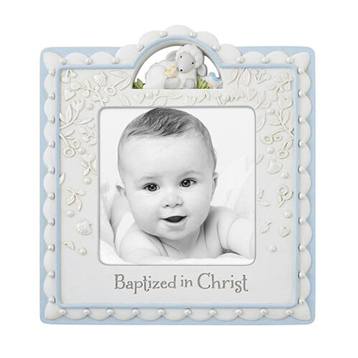Baptized In Christ Photo Frame Blue D3083