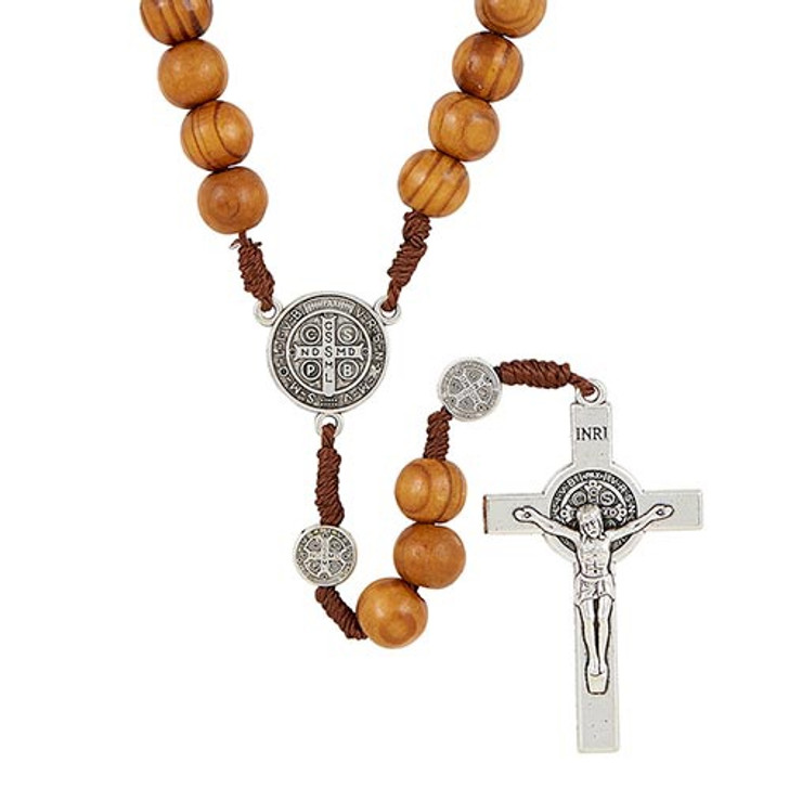 Saint Benedict Paracord Rosary - Brown G4606