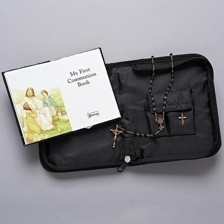Boy's Faux Leather Communion Folder Set 26288