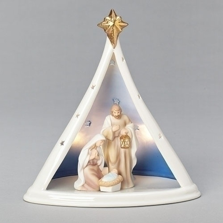 """8.75""""H LED HOLY FAMILY IN TENT 133022"""
