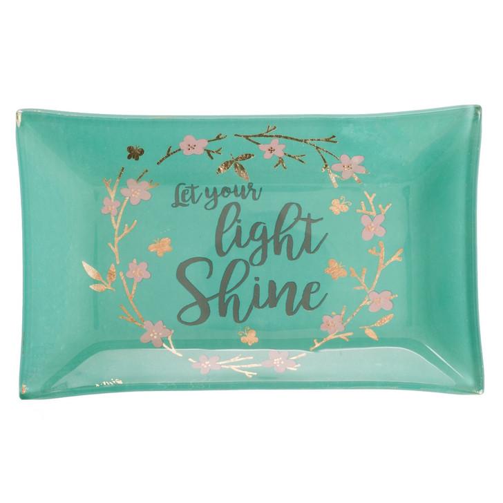 Let Your Light Shine - Matthew 5:16 Glass Trinket Tray GLT010