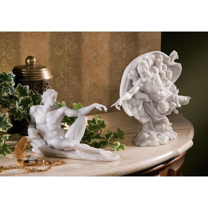 The Creation of Adam Bonded Marble Statues: Set WU9722933