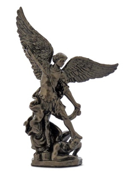 St. Michael, Hand-Painted, Cold-Cast Bronze, 4inches SR-75579