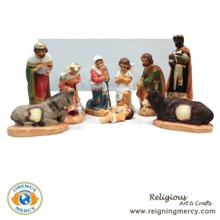 Ceramic Nativity Set (9pc) 8.5″ H