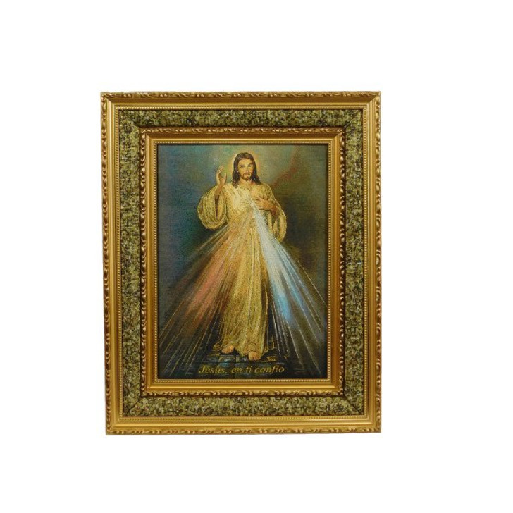 Divine Mercy Double Padded Gold Frame (17″ x 21″) 16-18546
