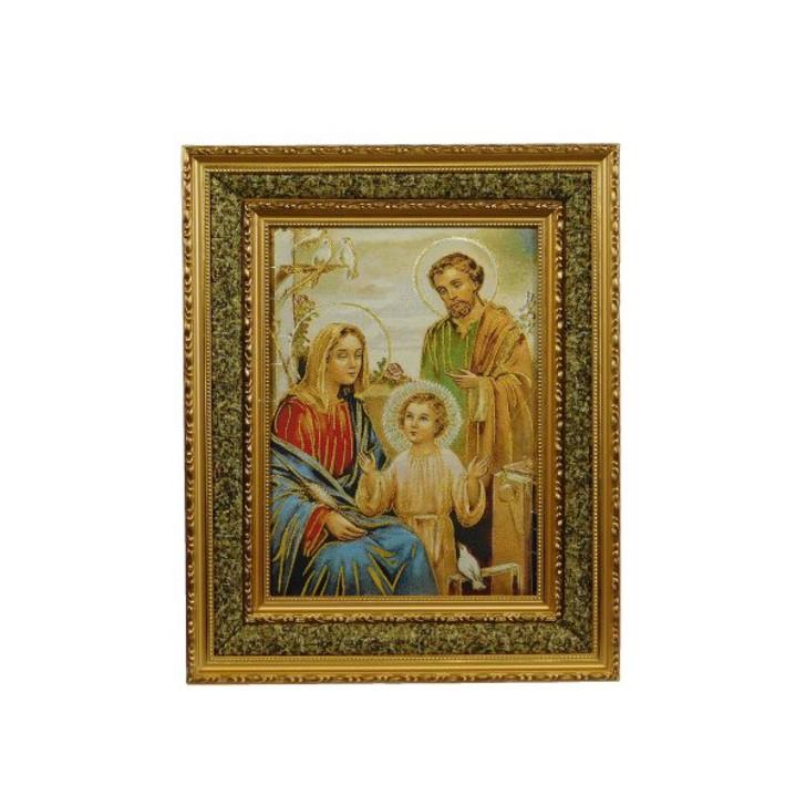 Holy Family Padded Gold Frame (17″ x 21″) 16-18547