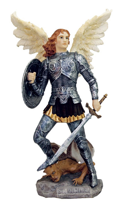 Archangel Michael, cold cast bronze, 9 In SR-76311-C