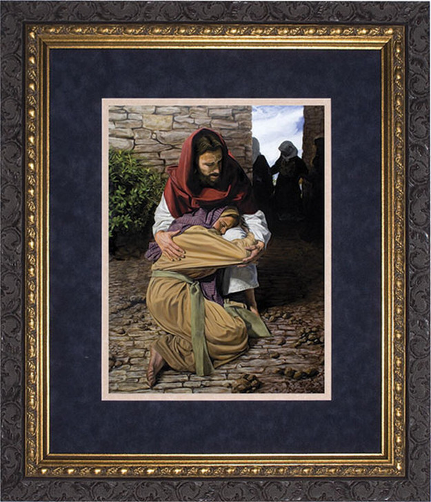 A Prodigal Daughter by Jason Jenicke Matted - Ornate Dark Framed Art NWM-5035E4