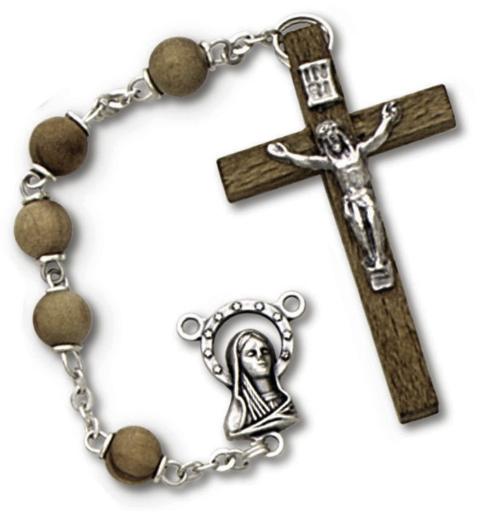 olive wood rosary 352RC