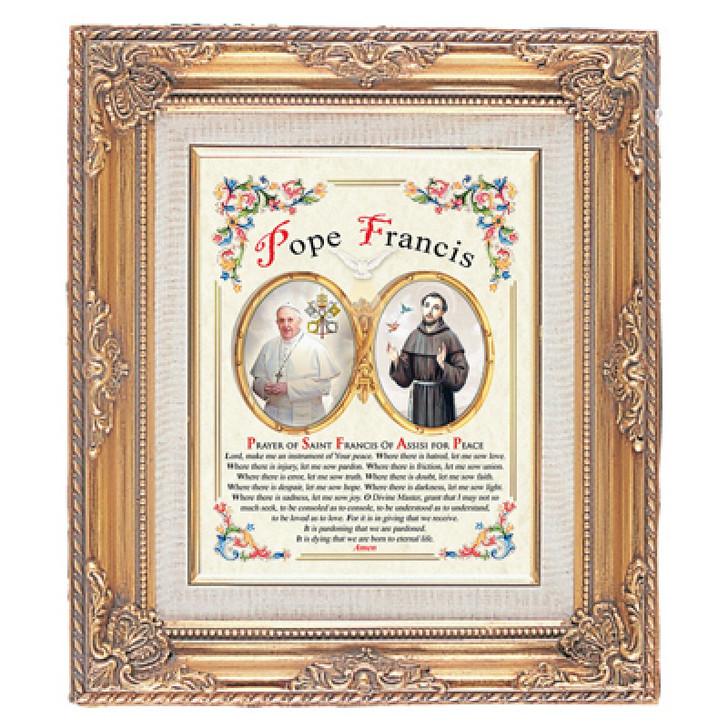 FRAMED ART GOLD POPE FRANCIS 13.25X15.5 PR80-8097