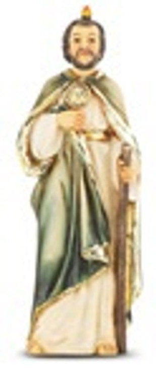"4"" ST. JUDE HAND PAINTED SOLID RESIN STATUE 1735-320"