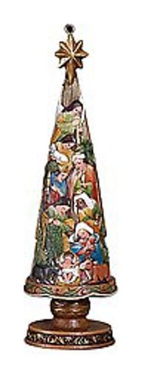 Nativity Christmas Tree 5 IN Ornament YD350