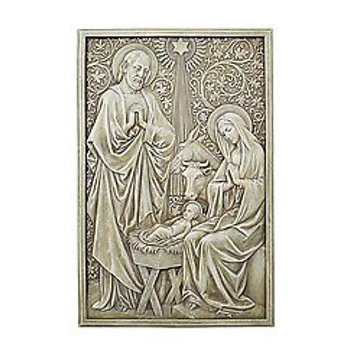 "13"" Nativity Garden Plaque D1035"