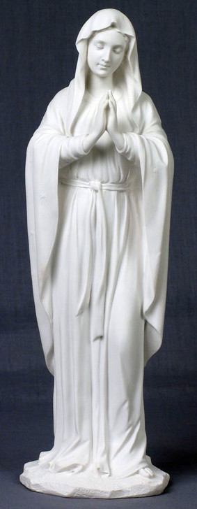 Praying Virgin, White SR-74504-W