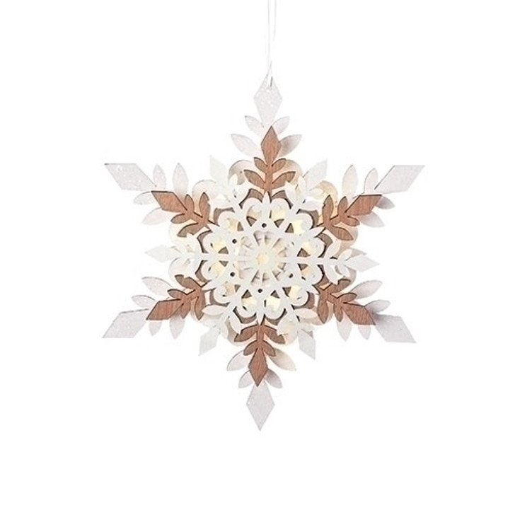 12 In LED SNOWFLAKE ORN WHITE 30361