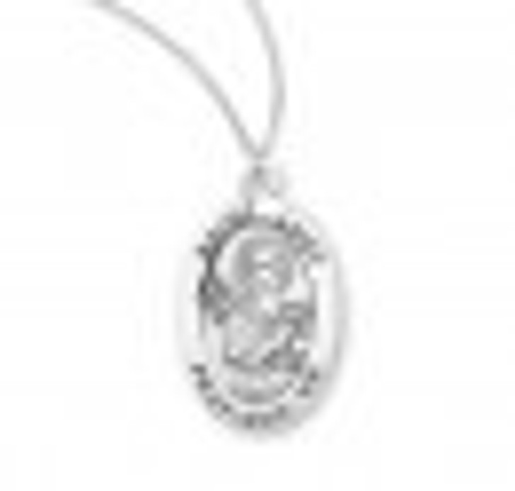 Patron Saint Lucy Oval Sterling Silver Medal S945618