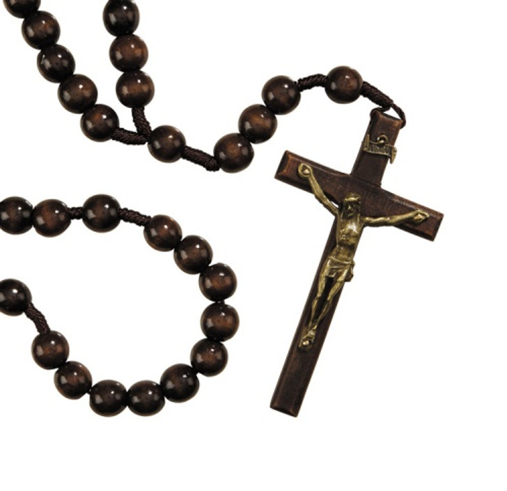 14MM Wood Cord Rosary WC272