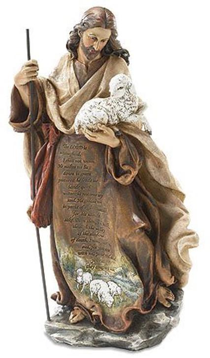 12.25in Christ w/lamb MT396