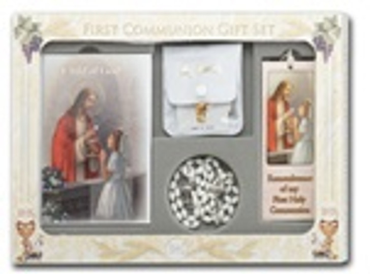 CHILD OF GOD GIRL'S 6 PIECE FIRST COMMUNION GIFT SET 5274