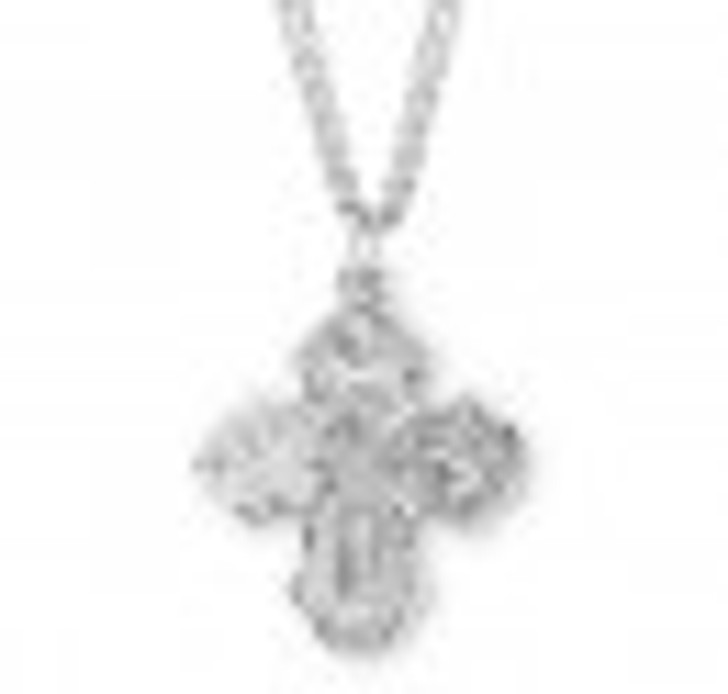 Sterling Silver 4-Way Medal S144324