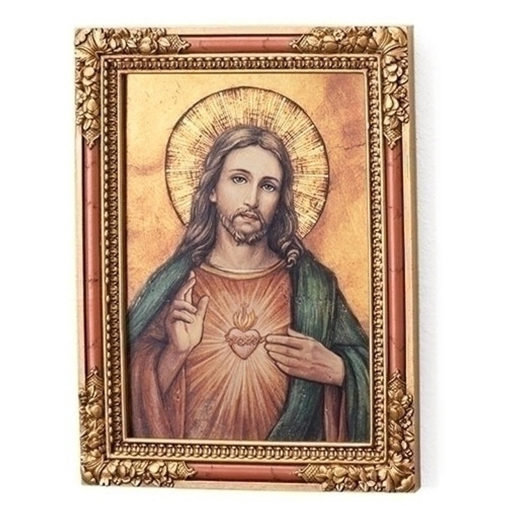 """7.25""""H SACRED HEART ICON 66769"""