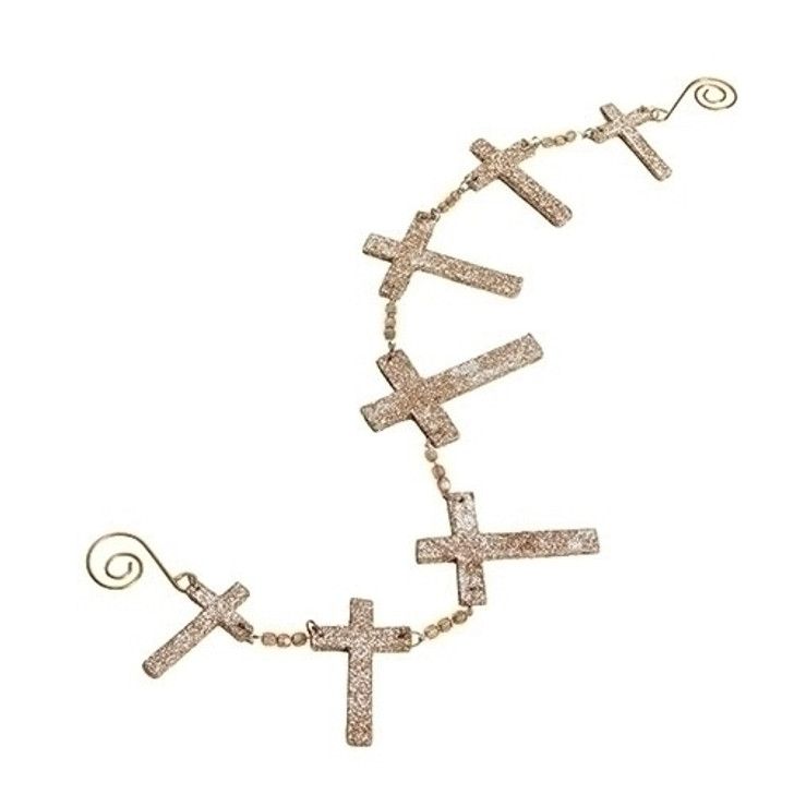 21 In W GLITTER CROSS SWAG ORN Set of 6 $34.99 31769