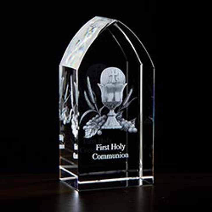 First Communion Etched Glass JC-4409