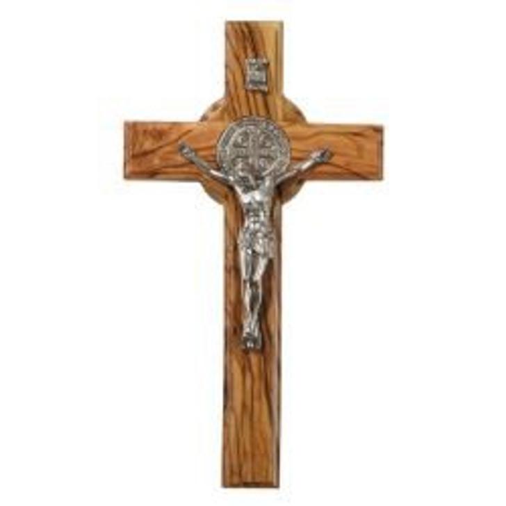 St. Benedict Olive Wood Wall Crucifix WC494