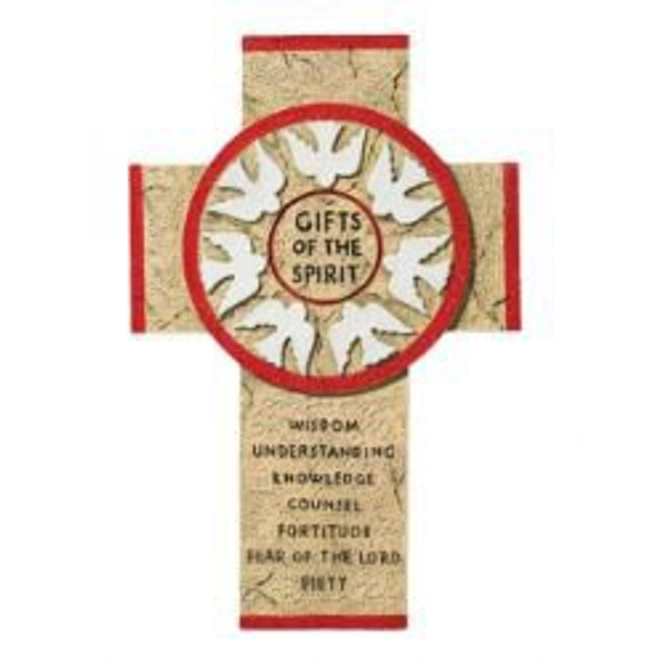 Gifts of the Spirit Wall Cross - Red WS381