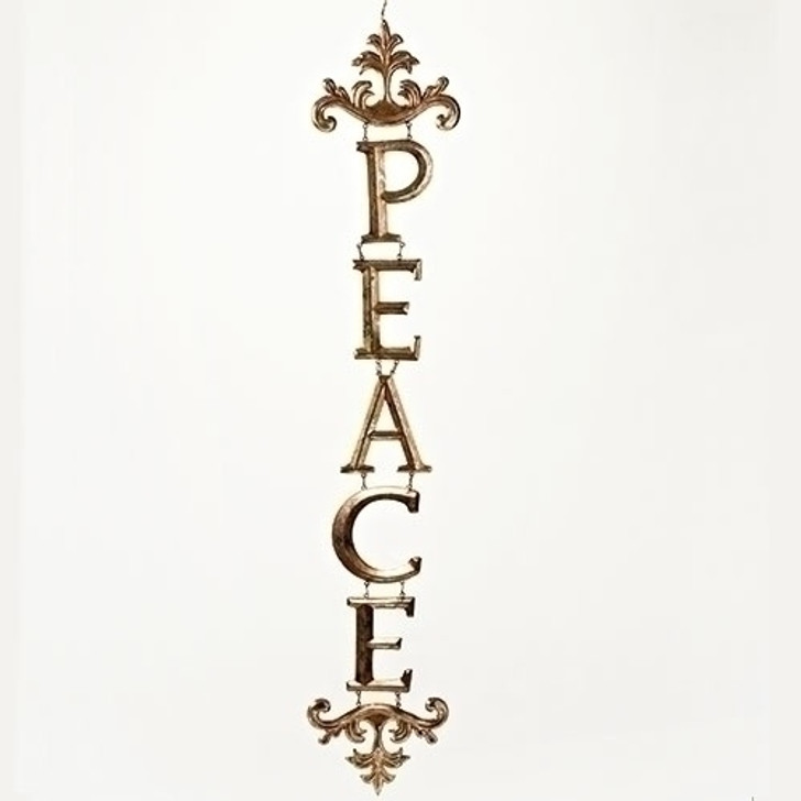 32 In PEACE ORN ANTIQUE GOLD 30613