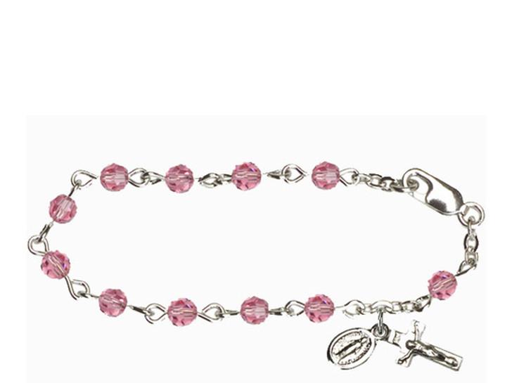 RBI0004 Series Infant Rosary Bracelet RBI0004ROS