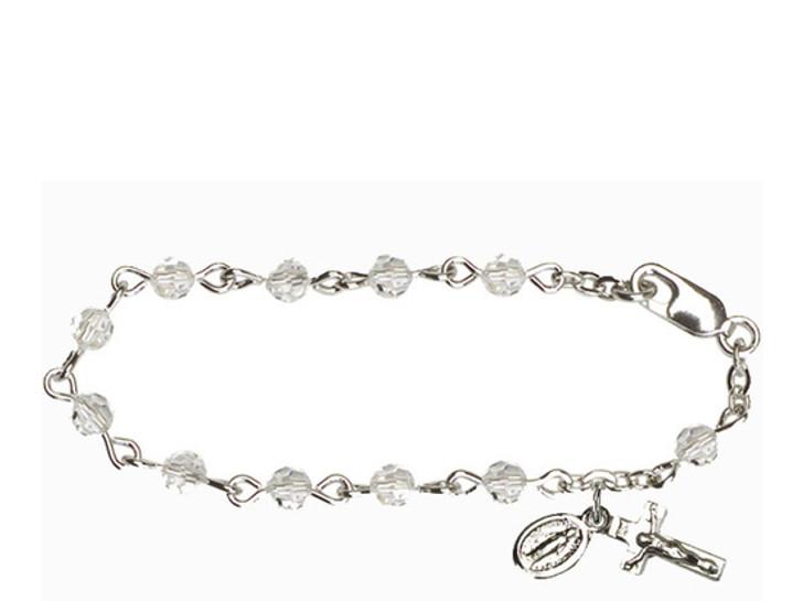 RBI0004 Series Infant Rosary Bracelet RBI0004CS
