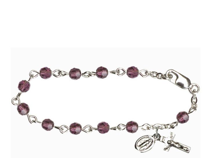 RBI0004 Series Infant Rosary Bracelet RBI0004MCS