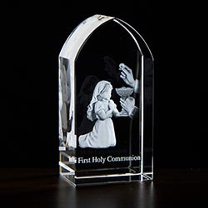 First Communion Girl Etched Glass JC-4411