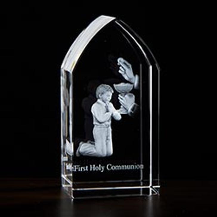 First Communion Boy Etched Glass JC-4410